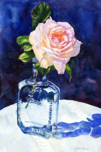 Small Rose in Bottle, by Jana Bouc