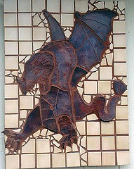 Wall Dragon mosaic