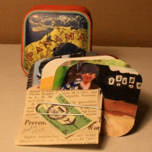 """Panama."" A tiny antique typewriter ribbon tin with a story inside."